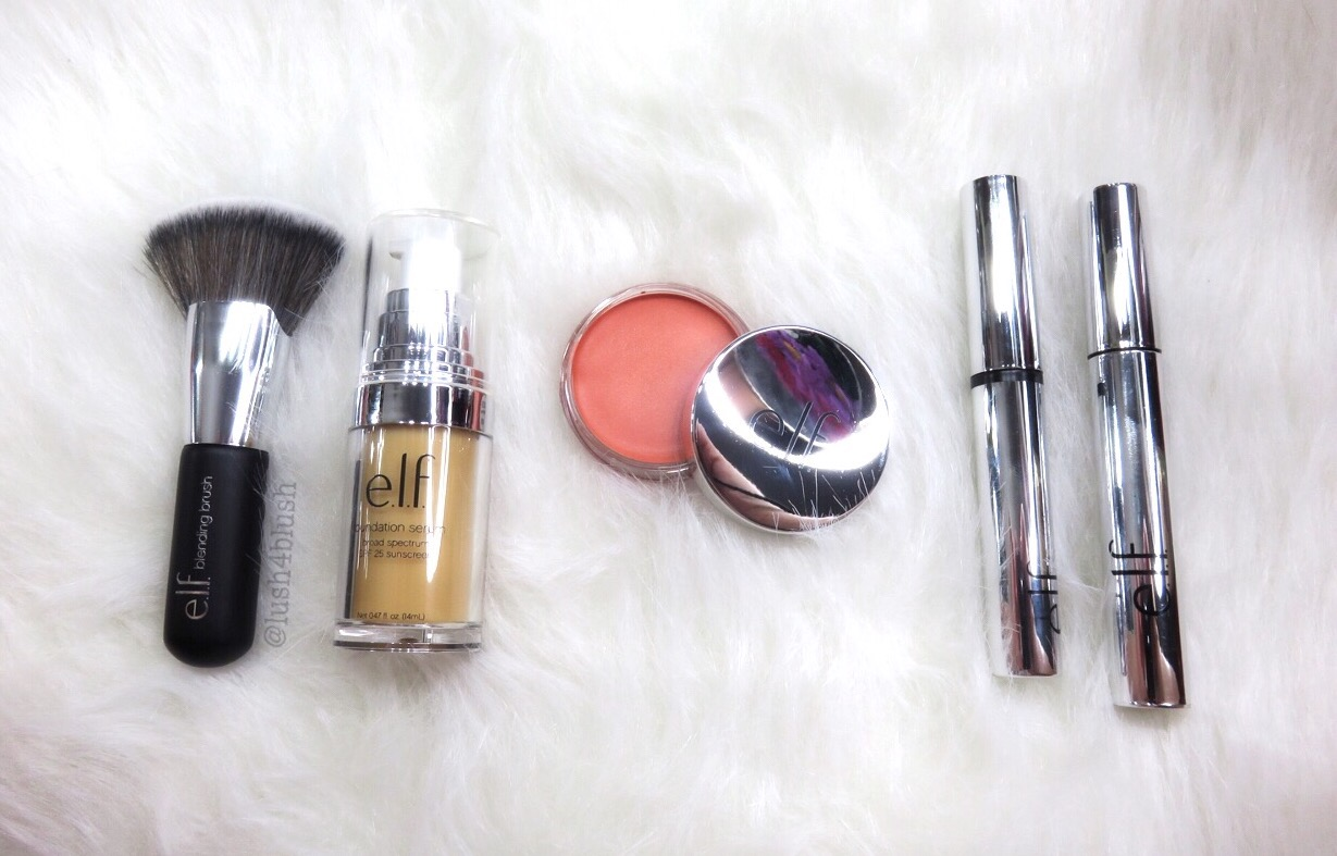 new elf brushes. new elf beautifully bare products first impressions! new brushes